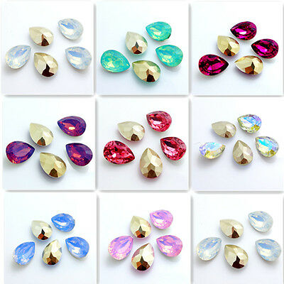 Wholesale 30PCS Teardrop Resin rhinestones beads 10x14mm diy hot