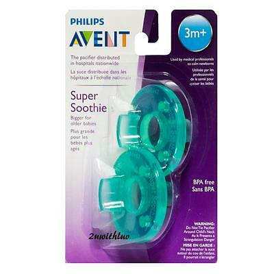 Philips Avent Baby Soothie Pacifier 3 Months + Green Pack Of 2