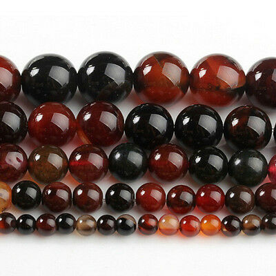 Lots Natural Agate Gemstone Round Loose Spacer Stone Beads 4/6/8/10/12mm DIY