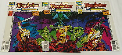 tv cartoon series comics KING ARTHUR AND THE KNIGHTS OF JUSTICE #1 2 3~ FULL SET