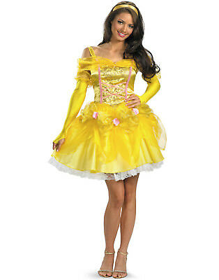 Disney Princess Belle Deluxe Fab Beauty & Beast Fancy Dress Hens Costume