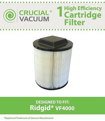 Replacement Ridgid VF4000 Washable Wet/Dry Vac Filter Part # 72947