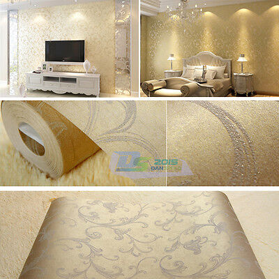 Modern 10M Non-woven Wallpaper Roll Living Room TV Background Wall Decorative