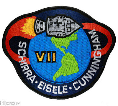 Apollo 7 Mission Embroidered Patch (Official Patch) 11cm x 10cm approx