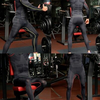 Men COMPRESSION Base Layer Trouser Long Pant Tight Under Skin Sports Bottom M-XL