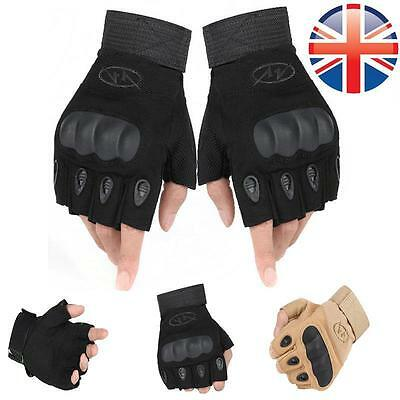 *UK Seller* Paintball Airsoft Tactical Military Cycling Armour Fingerless Gloves