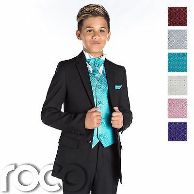Boys Black Suit, Page Boy Suit, Boys Wedding Suit, Black Suit, Slim Fit Suit
