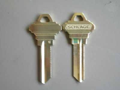 "2 Schlage 6 Pin ""H""  Keyway Blanks"