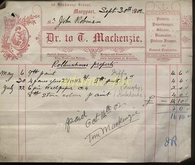 1902 Maryport Cumberland, 46 Senhouse St. D. Mackenzie, Joiners, Shop Fitters.