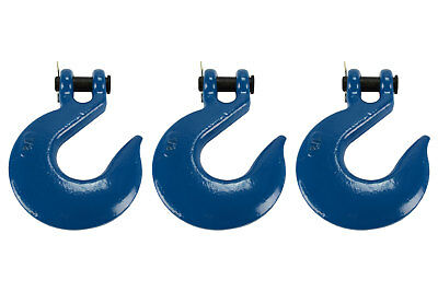 """3 Lot 1/2"""" Chain Slip Hook Clevis Rigging Tow Winch Trailer Grade 70"""