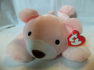 """Large TY Beanie PILLOW PAL 14"""" Soft Pink Bear ** SNUGGLY **  with Tags"""