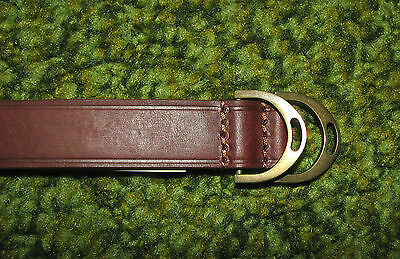Mens POLO-RALPH LAUREN Brown Leather EQUESTRIAN Wrist Strap/ wristband