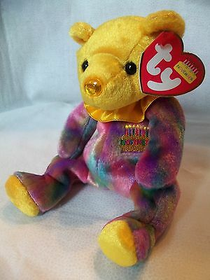 TY Beanie Babies Rainbow Birthday Bear ** NOVEMBER **  New w/ Tag