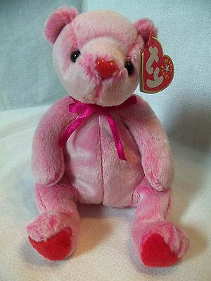 TY Beanie Babies Pink Pot Belly Bear ** ROMANCE** 9th Generation New w/ Tag