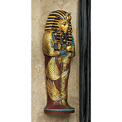 Ancient Egyptian Boy King Tut Sarcophagus Wall Sculpture