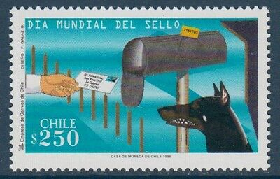 Dogs Stamp Day Chile MNH stamp 1998