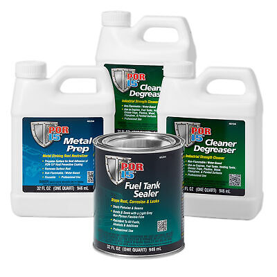 POR15 Car Fuel Petrol Tank Sealing/Repair/Sealant/Cleaner/Sealer Kit - Grey