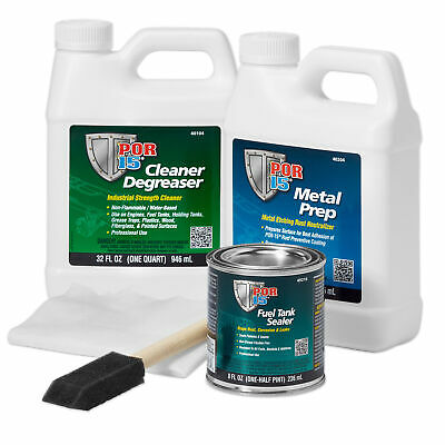 POR15 Motorcycle Fuel Tank Sealing/Repair/Sealant/Cleaner Kit In Black
