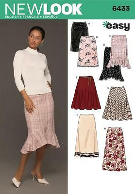 New Look Sewing Pattern Misses' Skirts Skirt Size 8 - 18 6433