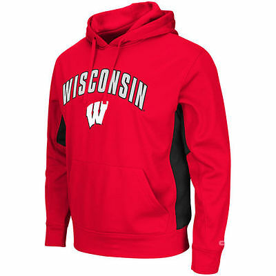 Wisconsin Badgers Colosseum Training Day Pullover Hoodie - Red