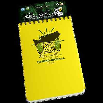 Rite in the Rain Fishing Journal No 1731, Waterproof Notebook for Anglers