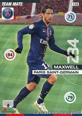 158 Maxwell Brazil Psg Paris.sg Card Adrenalyn 2016 Panini
