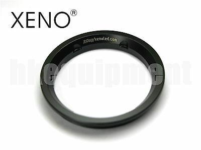 XENO RG03 Stainless Steel Tactical Lens Flashlight Bezel 6p 9p Black