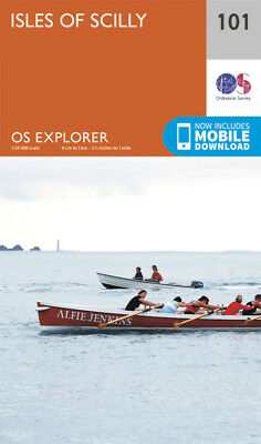 Isles of Scilly 101 Explorer Map Ordnance Survey 2015