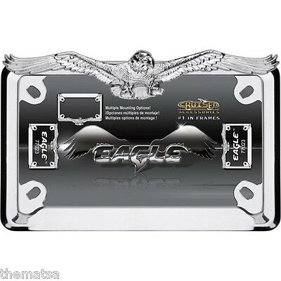 Eagle Motorcycle Chrome Metal Made In Usa License Plate Frame