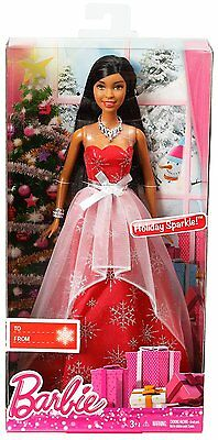 Barbie 2014 Holiday Sparkle Christmas Doll Aa Clw90 *new*