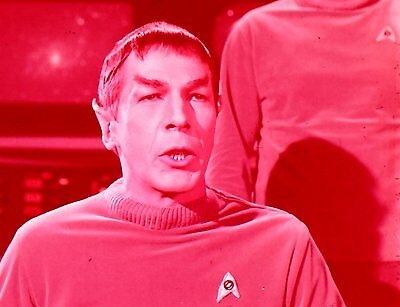 """RARE 1964~STAR TREK """"THE CAGE""""~SPOCK IN CHARGE~35mm FILM CLIP/SLIDE~LOT 1603"""