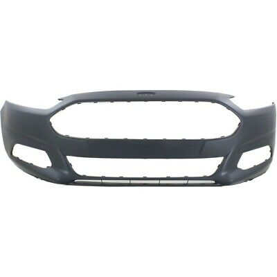 Front Bumper Cover For 2013-2016 Ford Fusion w/ fog lamp holes Primed
