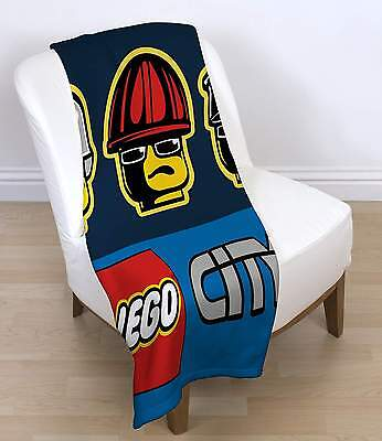 Lego City Heroes Panel Fleece Blanket Official Uk Licensed Kids Throw Snuggle