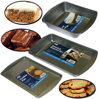 Non Stick Cake Baking Tray Square Rectangle Biscuit Brownie Bake Pan Cookie Base