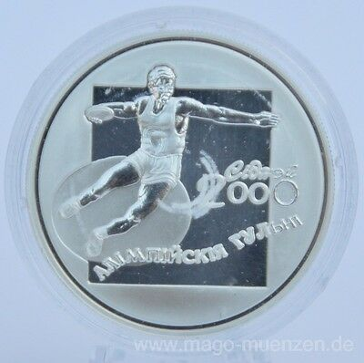 Belarus 20 Roubles 2000 Olympia Sydney Discus Throw Silver