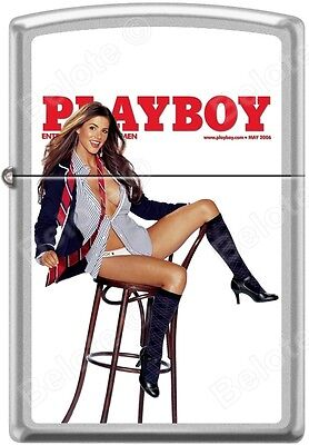 Zippo Playboy May 2006 Cover Satin Chrome Windproof Lighter NEW RARE