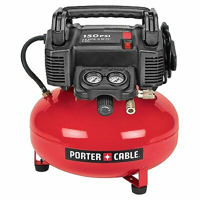 Porter-Cable 150psi oiless oil-free 6 gal  pancake air compressor with warranty
