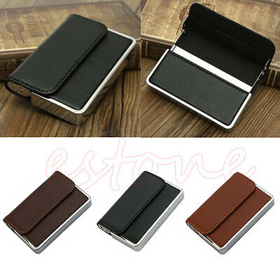 New Men Luxury Pocket Leather Business ID Credit Card Holder Case Wallet