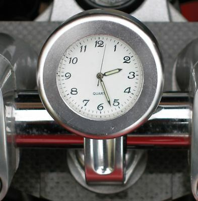Analogue Motorcycle Clock In Silver