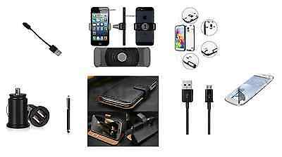 Samsung Galaxy Note 3 Accessory Pack Bundle Kit USB Charger Cable Case Wallet