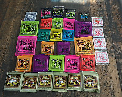 Ernie Ball Slinky Earthwood Electric Acoustic Classical Bass Guitar Strings WOW