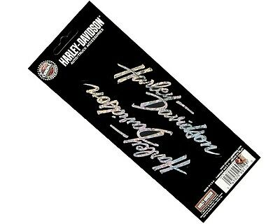 Harley Davidson Holographix Script Decal Sheet Of 2 ** Made In The Usa **