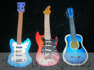 Triple guitar collection of plaster craft latex moulds molds