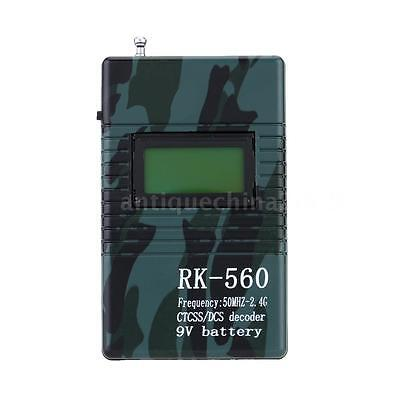 RK560 50MHz-2.4GHz Portable Frequency Counter Meter DCS CTCSS Radio Testing 3VV7