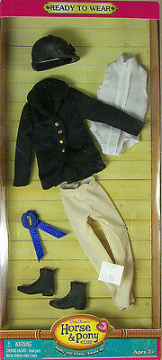 """ONLY HEARTS HORSE & PONY CLUB BLACK ENGLISH RIDING OUTFIT for 9"""" DOLL NEW 03202"""