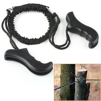Survival Chain Saw Hand ChainSaw FAST CUTTING Camping EDC Tool Pocket Gear NEW