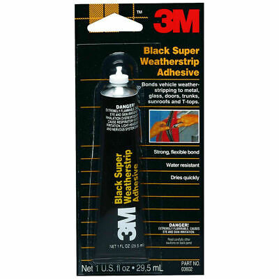 3M 03602 Black Super Weatherstrip Adhesive 1 oz Tube