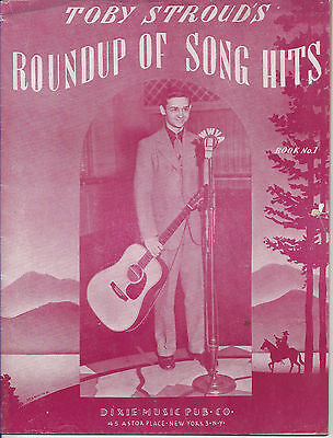 1940s TOBY STROUD ROUNDUP OF COUNTRY WESTERN SONG HITS BOOK #1