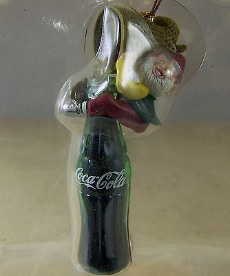 Coca Cola CHRISTMAS ORNAMENT FILL 'ER UP Elf on Coke Bottle 1994 in Box Bottling