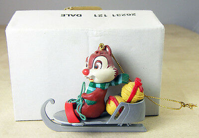 DISNEY Christmas Ornament Dale the CHIPMUNK on Ice Skate from CHIP & DALE + Box